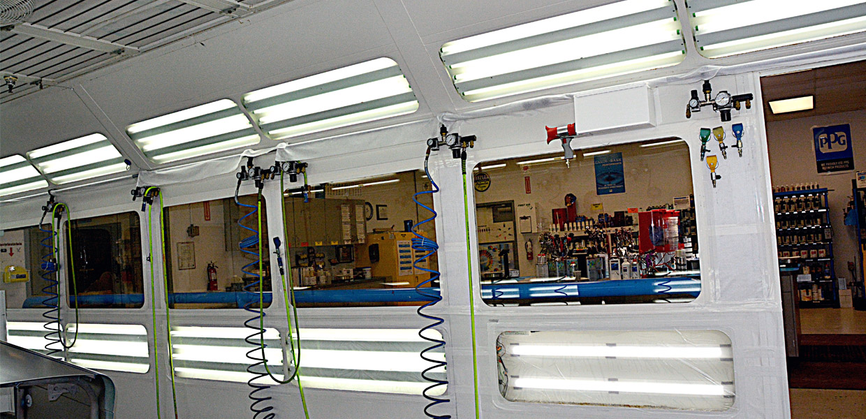 LED Retrofit Automotive Paint Booth